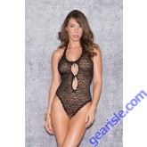 Central Front Keyhole Teddy Animal Style Lingerie 35002 Glitter