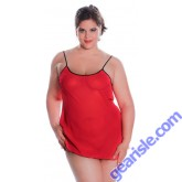 Women's Plus Size Crinkle Chiffon Chemise V-Back And Bows