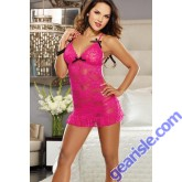 Sexy Lace Long Dress 5027 Sexyfair lady  Pink Lingerie