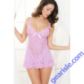 Sexy Spaghetti Strap Lace Embellished Babydoll 5125 Lingerie