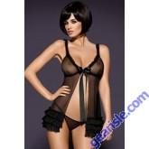 Black Obsessive Kalia Sexy Bodydoll Lady Dress 5166 Lingerie