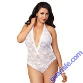Dreamgirl 8694X Queen Plunge Lace Teddy Set