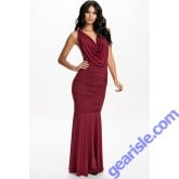 Evening Draped Open Back Chain Decoration 9336 Dress