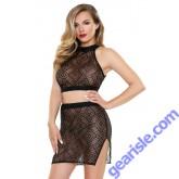 Tia Geo Top Matching Skirt Tease B462