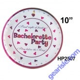 "Bachelorette Party Plate 7"" 10 Piece Final Night of Freedom"