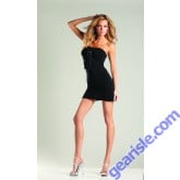 Opaque Tube Dress With Buckle Bow BWB26 Lingerie