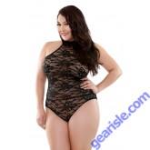 Celeste High Neck Lace Teddy Curve P273