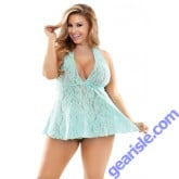 Angelica Stretch Lace Dress G-string Curve P471