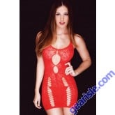 Lady's Killer Legs Fishnet Body Stocking 818JT090 Red Yelete Group Lingerie