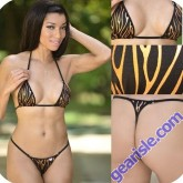 Hipster Metallic Fire Bikini Triangle Back Xposed Skinz