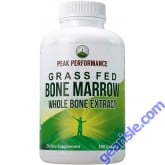 Grass Fed Bone Marrow Whole Bone Extract Supplement 180 Pills