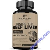 Grass Fed Desiccated Beef Liver Capsules 180 Pills 750mg Each