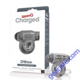 Charged Owow Viberating Cock Ring Grey ScreamingO