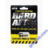 Hard AF Black 3500mg Male Sexual Dietary Supplement Pill