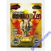 New Genuine Rhino Zen 9000 Gold Male Enhancement Pill