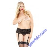 Stretch Lace Garterbelt Stocking Set Curve P150
