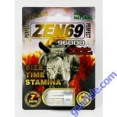 All Natural Perfect Zen69 Platinum 96000 Male Enhancement Pill