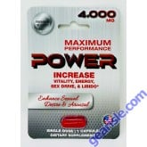 Power 4000 Mg Dietary Male Sexual Supplement Red Pill