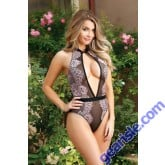 Brigitte Lace Overlay Teddy Keyhole Front Premiere FL1704
