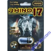 Rhino 17 5000 Black Pill Male Enhancement