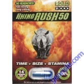 Rhino Rush 50 Solo 13000 Male Sexual Enhancer Pill