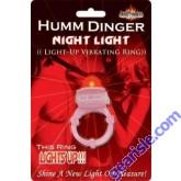 Humm Dinger Night Light Penis Vibrating Pleasure Ring