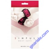 Sinful Red Wrist Cuffs by NS Novelties