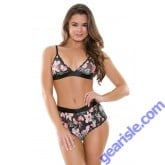 Aloha Mesh Bralette Shortie Sleep S167