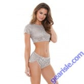 Charlotte Lace Crop Top Shortie Sleep S169