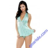 Angelica Stretch Lace Dress G-string Tease B471