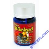 Wicked Extreme 1750mg  Triple Enhancement 6 Pill Bottle