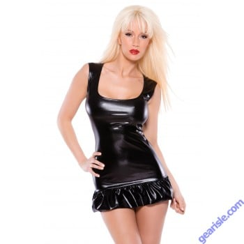 Wetlook Dress Flounce Kitten-Boxed 17-1072K
