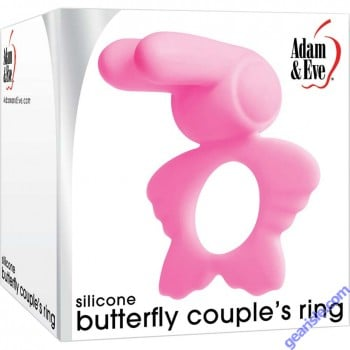 Silicone Butterfly Couple's Penis Ring Adam and Eve