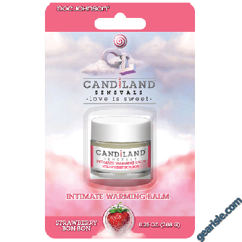 Doc Johnson Candiland Sensuals Intimate Warming Balm Strawberry Bon Bon
