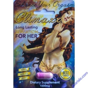 Climax Orgasm 1000mg Enhancer For Her Pill