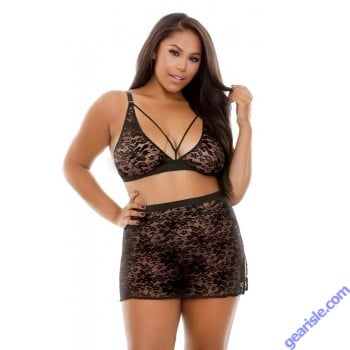 Kara Lace Bralette Skirt Curve P271