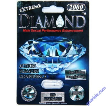Diamond Platinum Black Extreme Male Sexual Performance Enhancement Pills 2000mg by Diamond Platinum