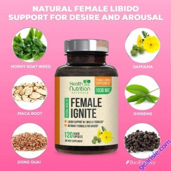 Female Libido Pill Maca Tribulus Horny Goat Weed Desire Energy 120ct