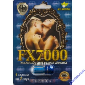 FX7000 Increase Sexual Desire Stamina & Confidence Pill 1 Capsule 7 Days