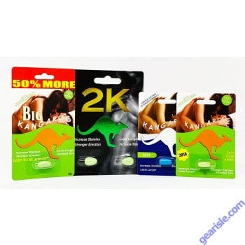 2K Male Enhancer Pill Package of 2 Green Kangaroo