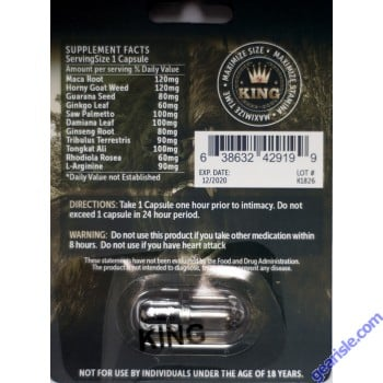 King Gorilla 12000 Male Sexual Enhancement Titanium Pill