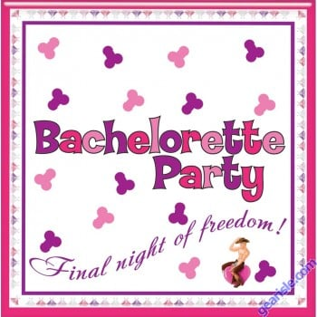 Bachelorette Party Napkins Trivia Game By Hottproducts