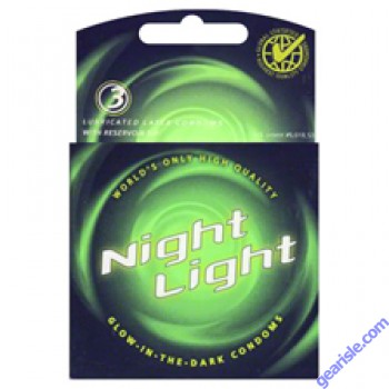 Night Light Glow in The Dark Lubricated 3 Condoms