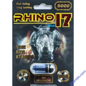 Rhino 17 5000 Male Sexual Performance Enhancer Pill For Man