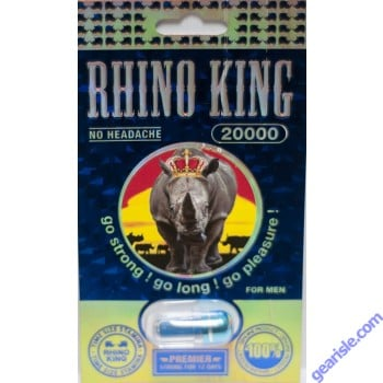 Rhino 7 Platinum 5000 Blue Male Enhancement Product 7 Days by Express Pac Trading