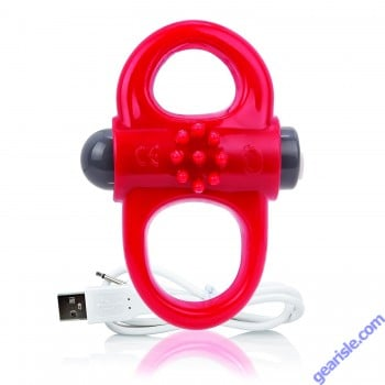 Charged Yoga Double Viberating Cock Ring Red ScreamingO