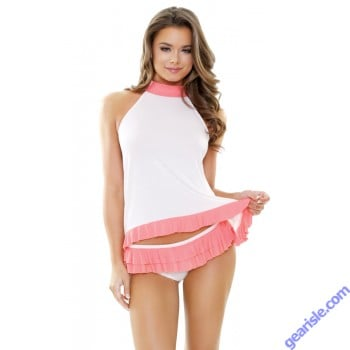 Mila Soft Halter Top Ruffled Panty Set Sleep S162