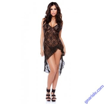 Lace Dress G-string Tease B428