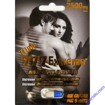 Triple 777 Extreme 2500mg Increase Sextual Excitement 6 Days
