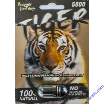 Tiger 5000 Genuine 7 Day Male Sexual Performance Enhancer 1 Pill